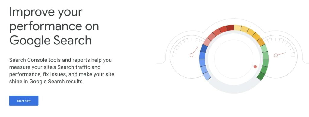 Google Search Console Landing Page